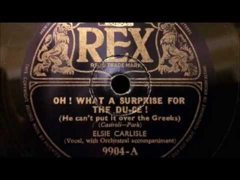 "Elsie Carlisle - ""Oh! What a Surprise for the Du-ce!"" (1940)"