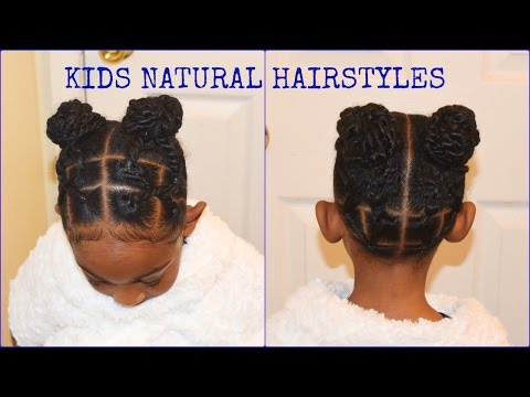 Kids Natural Hairstyles Rubber Band Buns Part Ll Quick Easy Little Girl Braid Hairstyles Youtube