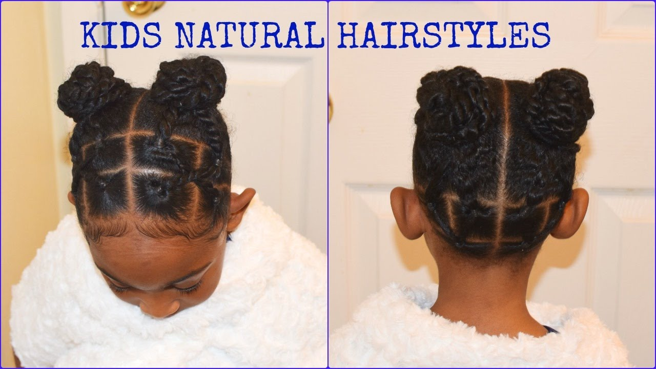 Kids Natural Hairstyles Rubber Band Buns Part Ll Quick Easy Little