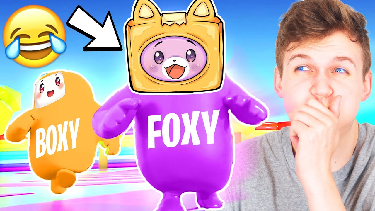 Can FOXY & BOXY Beat FALL GUYS!? (FUNNIEST GAME EVER!!!)
