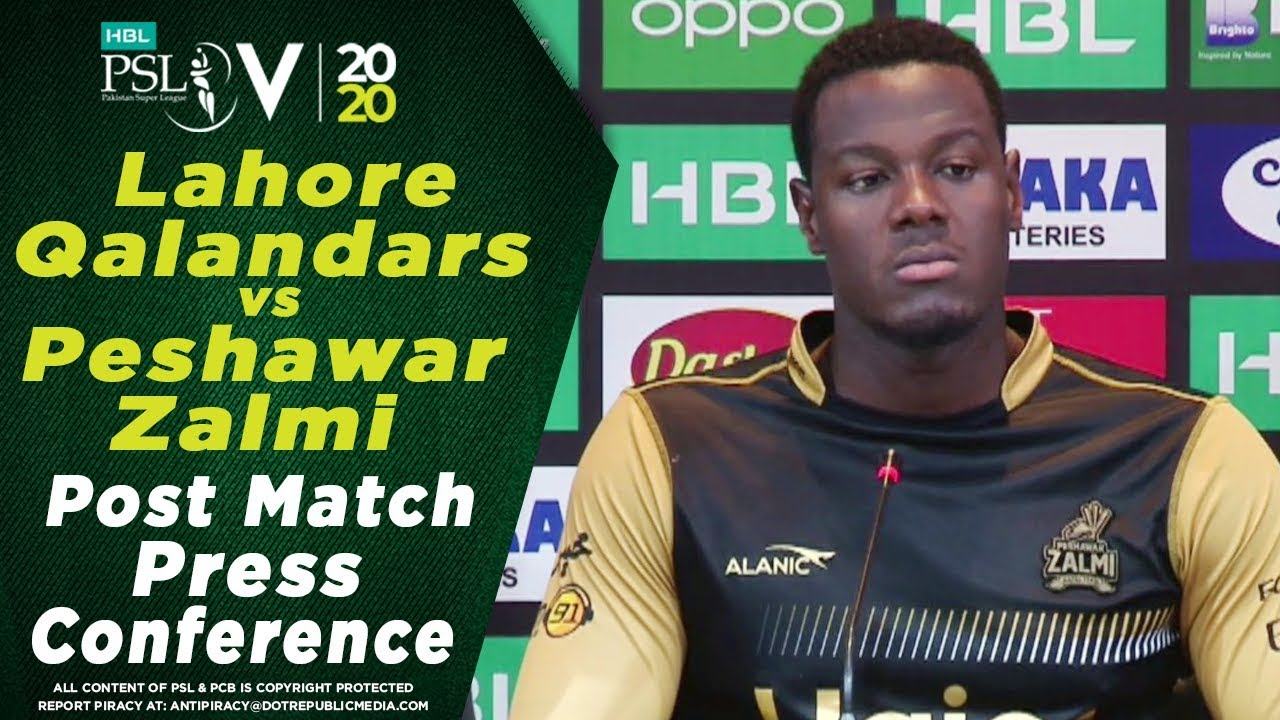 Carlos Brathwaite Post Match Press Conference | Lahore Qalandars vs Peshawar Zalmi | HBL PSL 2020