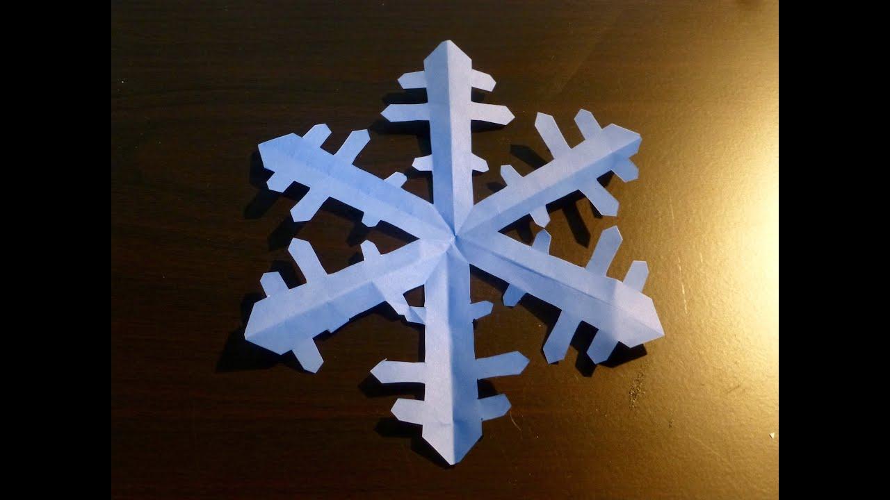 Cara membuat Kristal salju. Origami. Seni melipat kertas