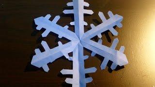 Origami. Seni melipat kertas. Kristal salju