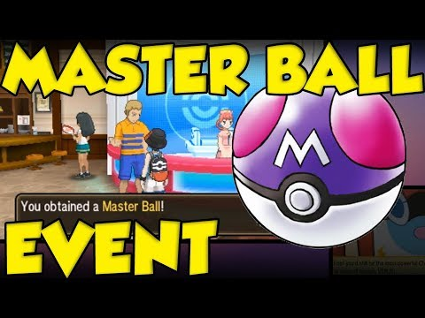 MORE MASTER BALLS EVENT! How To Get An Extra Master Ball In Pokemon Ultra  Sun and Ultra Moon!
