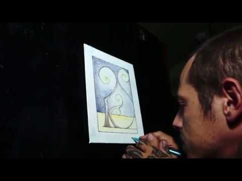 Illuminated Letter Drawing Time Lapse - Telluric Creations