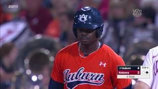 Auburn baseball vs Alabama in the  Capital City Classic highlights