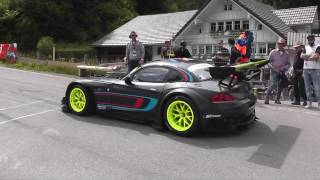 Infernal Sound from BMW Z4 GT3 on Start to Hillclimb Race