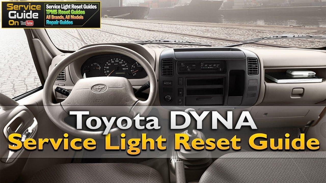 toyota dyna service light reset / oil light reset - youtube