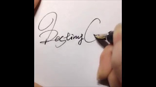 How to draw a cool signature!