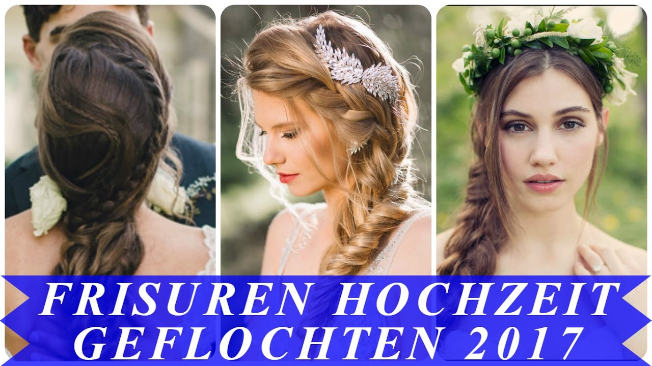coole frisuren hochzeit geflochten 2017 youtube. Black Bedroom Furniture Sets. Home Design Ideas