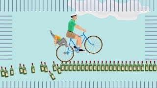 САМЫЙ ЖЕСТОКИЙ 99% НЕПРОХОДИМЫЙ ДЕТРАН ПО БУТЫЛКАМ ЧЕЛЛЕНДЖ! ◄ Happy Wheels #4