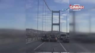 15 Temmuz Şehitler Köprüsü'nü kapatıp drift yaptılar 15 Aralık 2016
