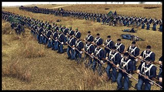 300 VS 4000! Massive Union Attack on Confederate Camp - Men of War BITFA Mod Gameplay
