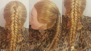ОБЪЕМНЫЙ КОЛОСОК ПОДХВАТАМИ ZaitovaElena Романтическая коса видео урок быстрые прически hairstyles