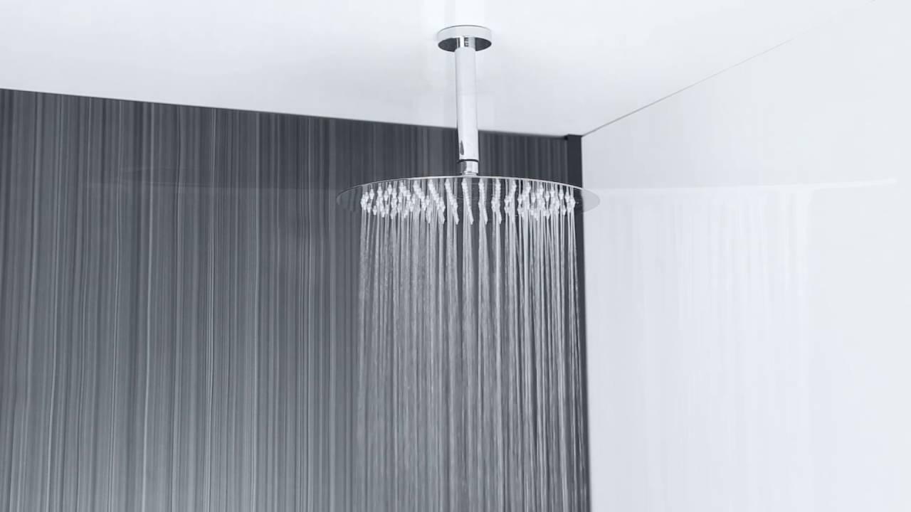 Alcachofa de ducha redonda extraplana de techo 300mm for Alcachofas para ducha