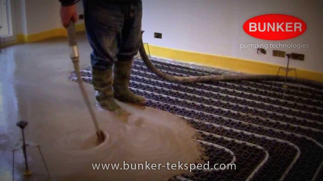 Massetto Per Pavimento Riscaldato massetto autolivellante radiante - bunker s8 cm