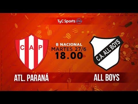 Primera B Nacional: Atlético Paraná vs. All Boys | #BNacionalenTyC