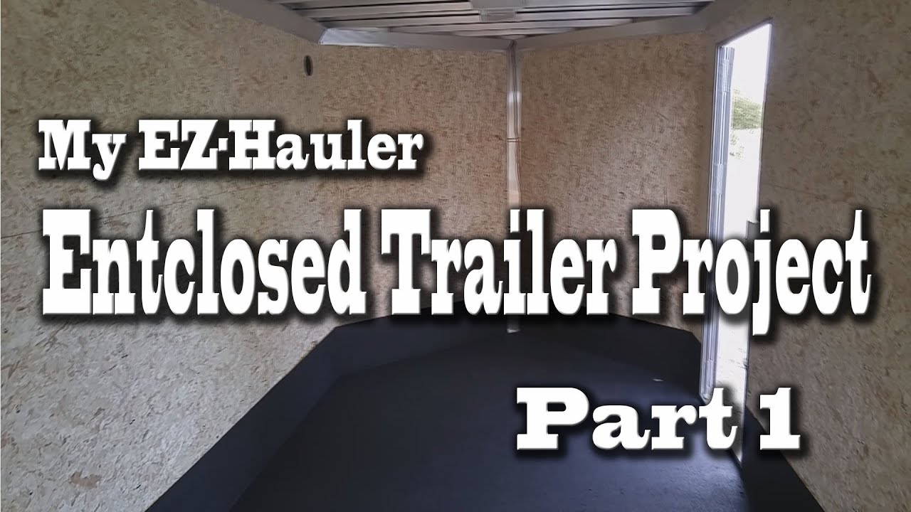 EZHauler 7x16 Enclosed Trailer Paint and Bed Liner