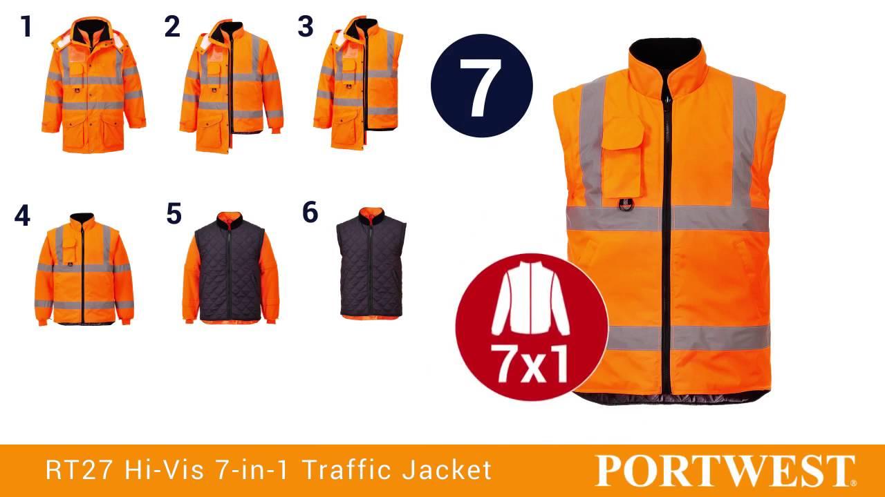 S427 Portwest Hi-vis 7-in-1 Traffic Jacket