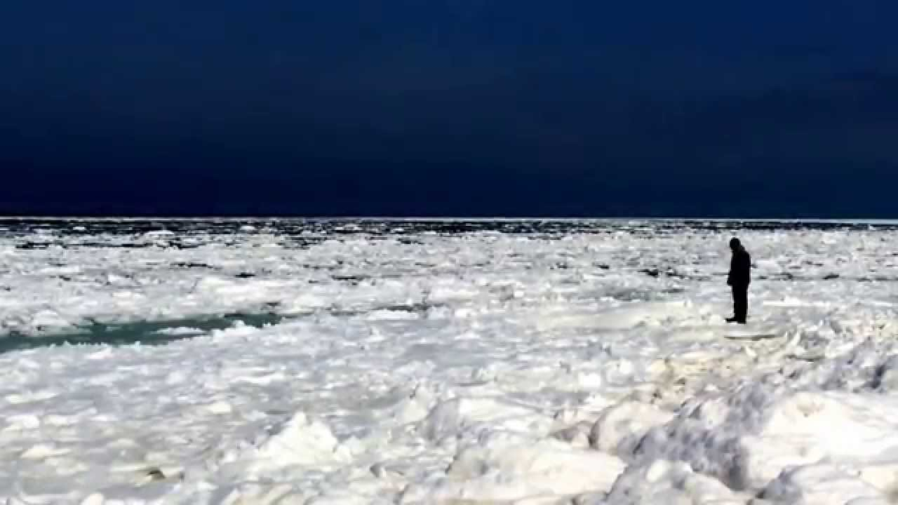 Mayflower Beach Iced Over Winter 2015 Youtube