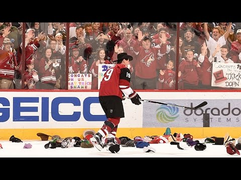 Doan gets showered with hat trick hats