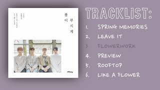 N.flying (엔플라잉) - fly high project #3 released: 04.24.19 tracklist: 01. spring memories 02. leave it 03. flowerwork 04. preview 05. rooftop 06. like a flower