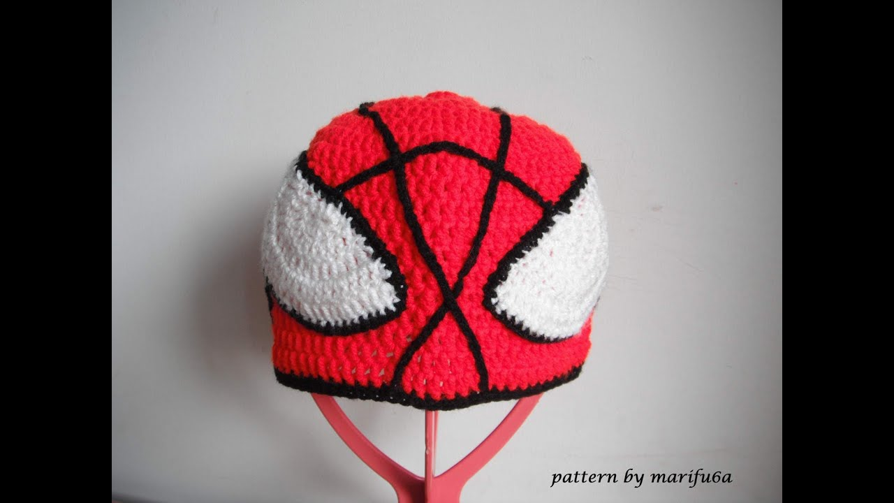 Crochet Spider Man Hat All Sizes Marifu
