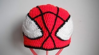 Repeat youtube video how to crochet spider man hat all sizes by marifu6a free pattern tutorial