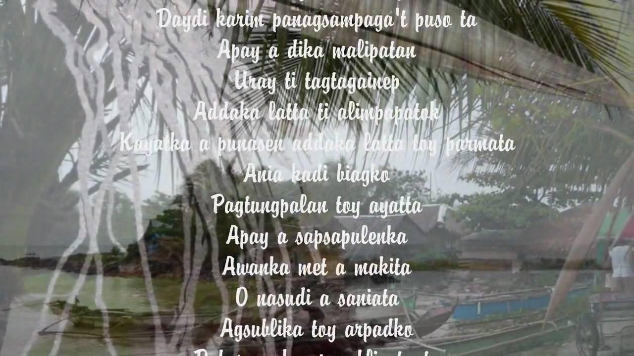 apay sapsapulenka ilocano song wlyrics youtube