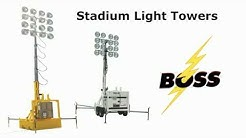 Stadium Light Towers   Indsutrial, Construction, Sporting Events   Boss Light Tower Rentals