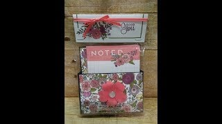 Sweet Soiree Note Card Holder Part 2