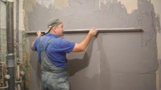 Как и чем выровнить кривые стены в ванной комнате (видео)
