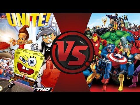 Nicktoons Unite vs The Avengers! (Jimmy, Timmy, Danny, SpongeBob) Cartoon Fight Night Episode 50!