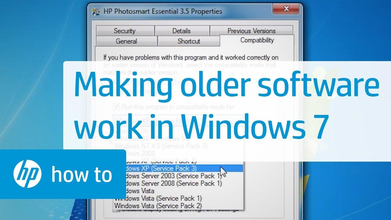 Making Older Software Work in Windows 7 | HP Computers | HP