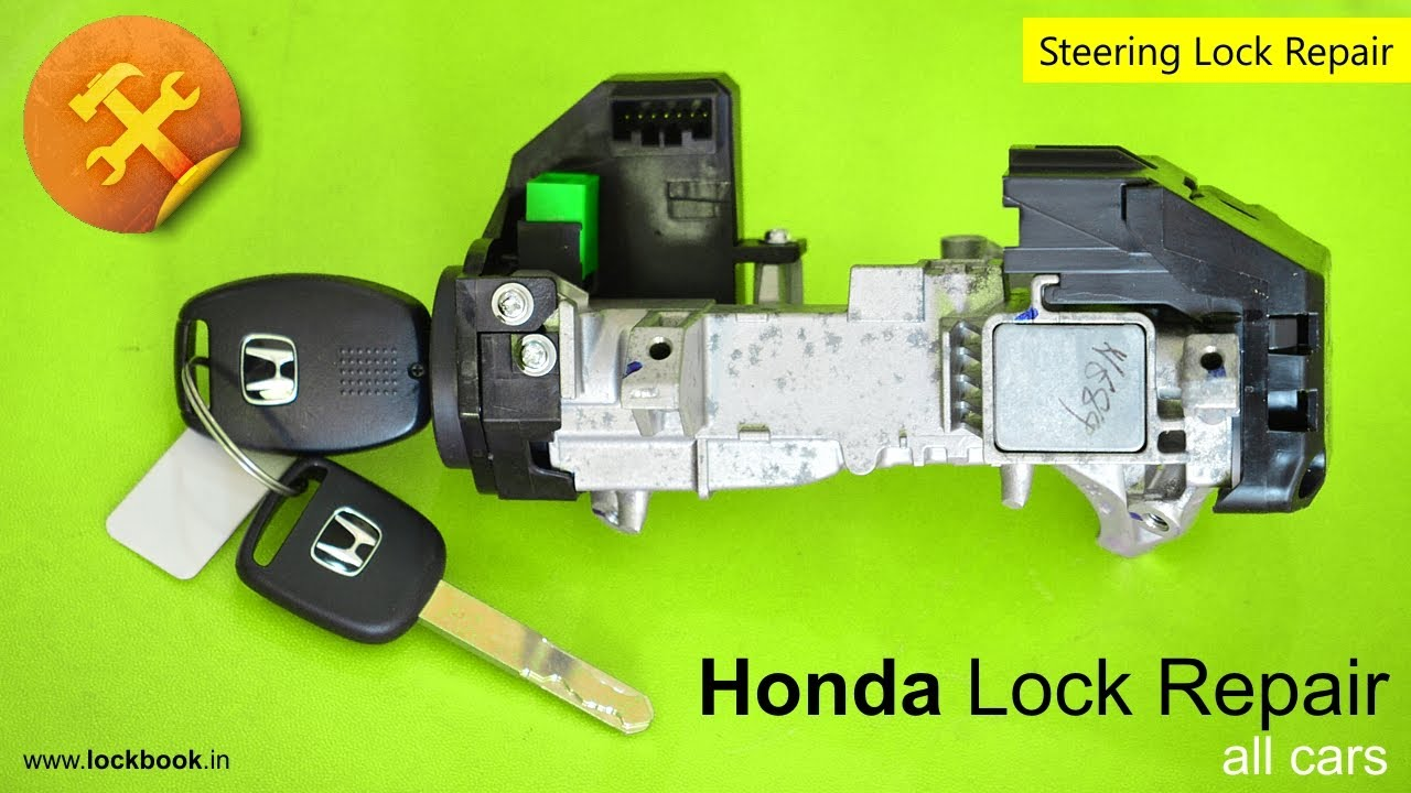 Honda Ignition Lock Repair | Key stuck - YouTube