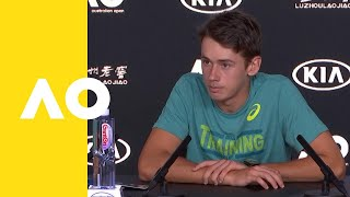 Alex De Minaur press conference (2R) | Australian Open 2019