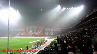 Milan Derby 15-1-2012 .. Ac Milan Song at the san siro before the game