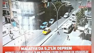 Malatya'da 5,2 büyüklüğünde deprem oldu!!