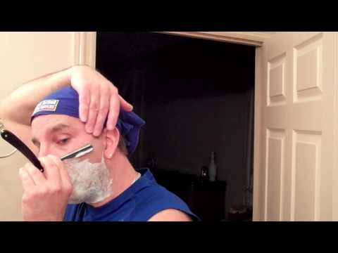 Parker Push Type Shavette Straight Razor Shave and Review