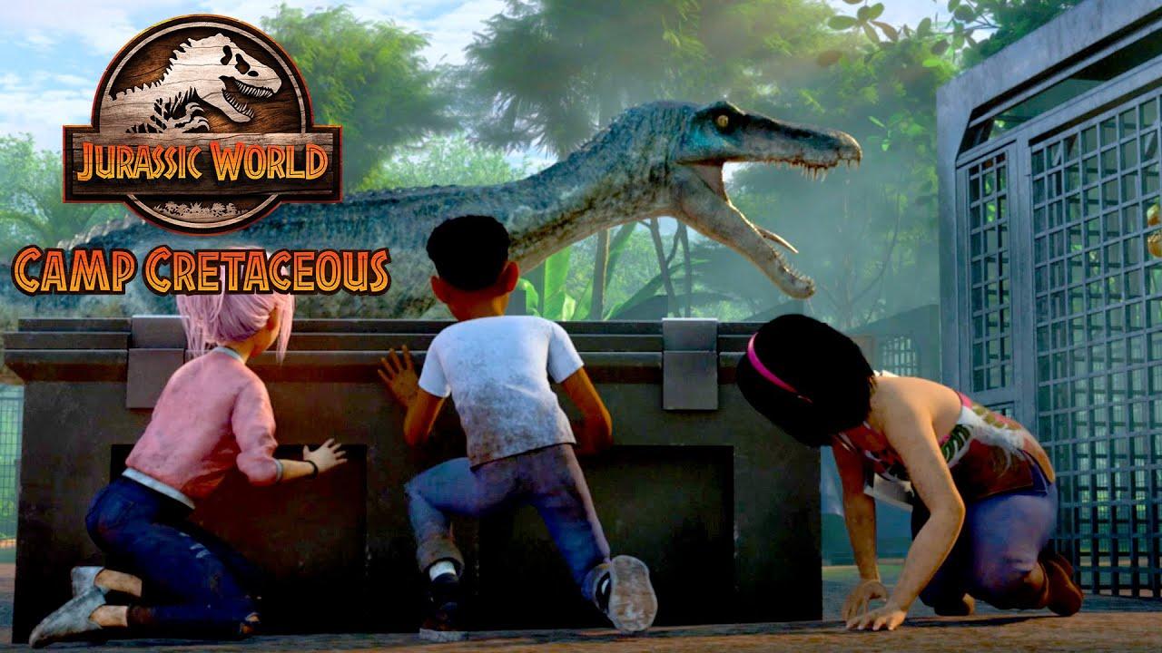 Download Setting the Dinosaurs Free | JURASSIC WORLD CAMP CRETACEOUS | NETFLIX
