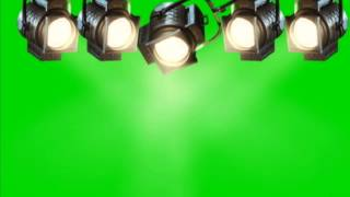 Concert Stage Lights 3 - Green Screen Animation