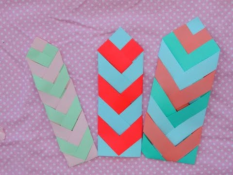 DIY Paper Chevron Bookmark Tutorial