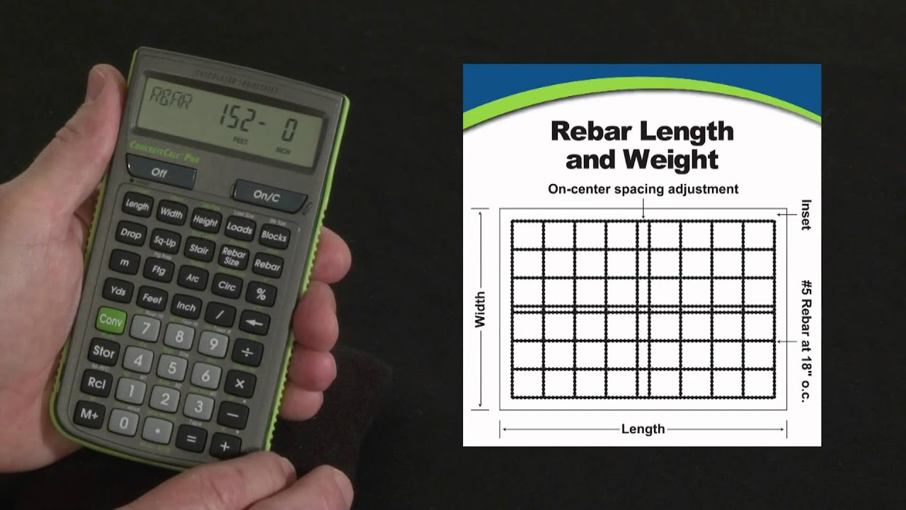 ConcreteCalc Pro Rebar Calculations How To