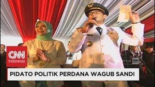 Pidato Politik Wagub Sandiaga Uno - Pelantikan Gubernur DKI Jakarta 2017