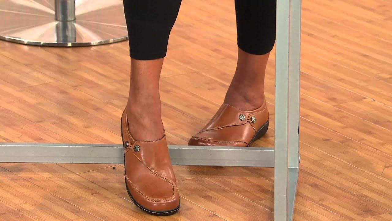 Clarks Bendables Tumbled Leather Slip