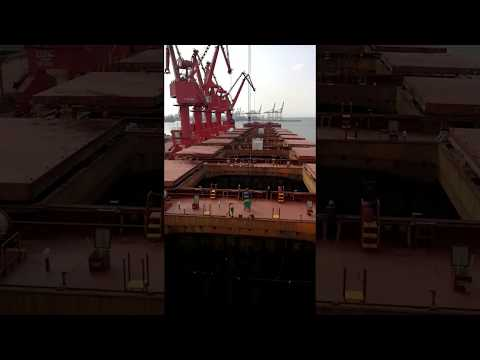 Discharging Iron Ore Cargo from Dry Bulk Vessel - Seanergy Maritime