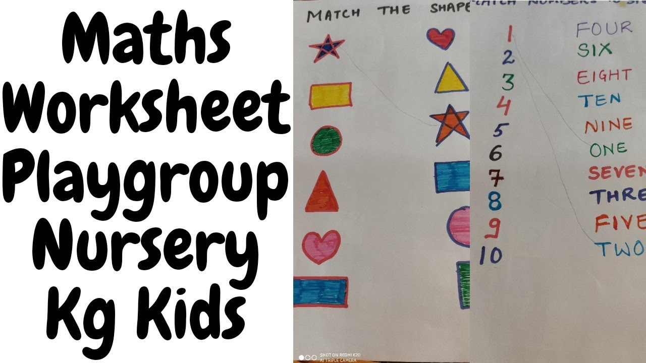 Maths Worksheet For Nursery Maths Worksheet For Toddlers Kindergarten Nursery Maths Worksheet Youtube