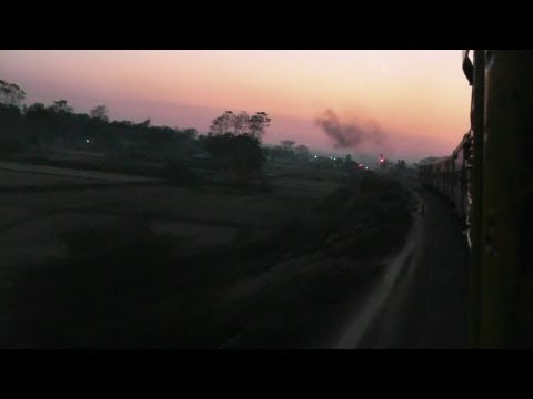 Departing from Teliamura at Sunset - Agartala-Lumding Exp. (Feb. 27, 2013)