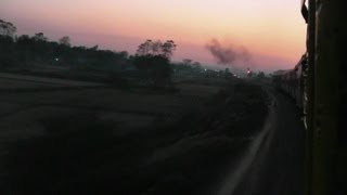 Departing from Teliamura at Sunset - Agartala-Lumding Exp. (Feb. 27, 2013)