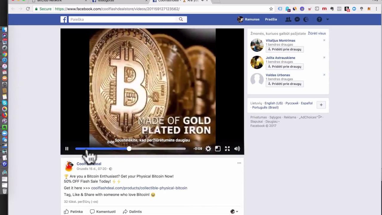 pridėti bitcoin